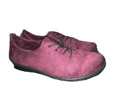 Bussola Coimbra Cathy Microtech Wine  Lace Up Comfort Shoes Women's 40 US 9