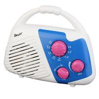 Mini Shower Radio AM/FM Manual Tuner Bathroom Hanging Music Radio Fast Ship as