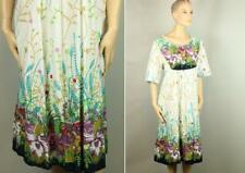 Vtg 70s SANTE CLASSICS Cotton Floral Retro GROOVY Dress XL