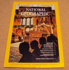 National Geographic October 1974 Skylab Space Earth Sun Texas Atka Indian Bhutan