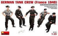 Miniart  35191 German tank crew, France 1940 Scale Plastic Model Kit 1/35