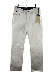 Wrangler Q Baby Women's NEW Stretch Denim Jeans Size 5/6 White Comfort Waistband