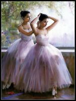 Young Ballet Girls - DIY Chart Counted Cross Stitch Patterns Needlework 14 ct