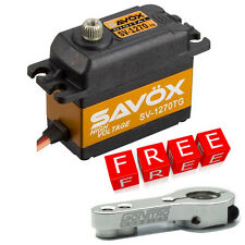 Savox SV-1270TG HV Monster Torque Titanium Gear Digital Servo w/Free Silver Horn