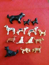 Lot PLAYMOBIL  : animaux chiens fermé zoo savane safari école