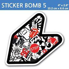 "4"" Sticker Bomb 5- JDM Wakaba Leaf Flag Decal Shoshinsha Mark Shocker Car Bumper"