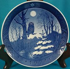 "Royal Copenhagen 1974 ""Winter Twilight"" Plate Denmark 7"""