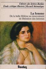LA FEMME  -  UNIVERS DES LETTRES BORDAS