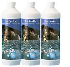 3 x 1lt  Aquasparkle Spa Sparkle Clarifier Hot tub Spas Hottub Clear Water Floc