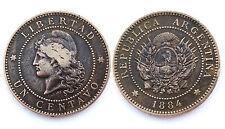 1 Centavo 1884 Argentina. Bronze. Belle qualité!
