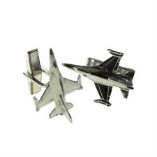 English Pewter F16 Falcon Aircraft Cufflinks in Leatherette Box XDCL011