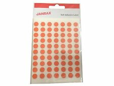 Pack of 560 Orange 8mm Self Adhesive Round Labels - Stickers Circle