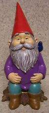 "Garden Accent Extra Large Purple Gnome NEW Freestanding 10"" tall"