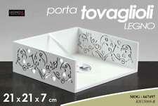 PORTATOVAGLIOLI ELEGANTE 21*H7 CM LEGNO SHABBY CHIC DE LUX CUORE MOG 667497