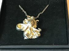 """Octopus TG158 Pewter On 16"""" Silver Plated Curb Necklace"""