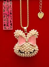 Easter Bunny Necklace-Betsey Johnson Fashion Jewelry-USA Seller
