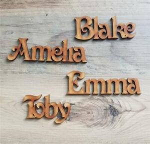 Personalised 4mm Victorian Script Names MDF Letters Words Books  Wood Weddings
