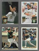 MARK MCGWIRE CARD LOT OF 4 MLB BASEBALL OAKLAND A'S