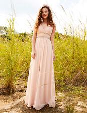 80b4348198 Ever-pretty V Neck Long Maxi Sleeveless Evening Prom Gown Dress Cocktail  08697 Blush 16