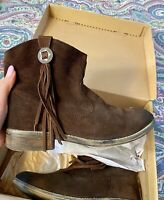 Ralph Lauren Denim Supply Womens AUBRIE Deep Brown Suede size 10B ankle boots