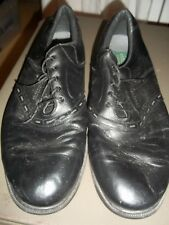 Footjoy Contour Blk Leather Comfort Size 14 M 54315 Golf Casual Shoes Spikeless