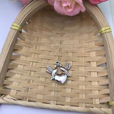3 pcs Tibet silver Love birds Charms 21x21mm DIY Jewellery Making crafts