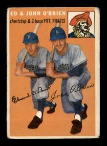 1954 Topps Set Break # 139 Ed & Johnny O'Brien GD *OBGcards*