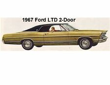 1967 Ford LTD 2 Door Auto  Refrigerator / Tool Box Magnet