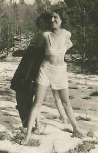 ANTIQUE VINTAGE FLAPPER AMERICAN BEAUTY RISQUE STRIPTEASE PANTIES ABSTRACT PHOTO