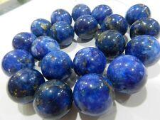 20mm Huge Egyptian Lazuli Lapis Loose Bead 15.5''AAA