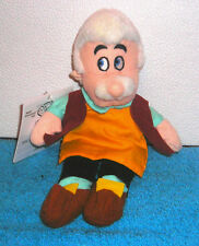 "DISNEY STORE EXCLUSIVE PINOCCHIO GEPPETTO 8"" PLUSH BEAN BAG TOY NEW"
