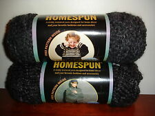 Lion Brand Yarn Homespun Acrylic NEW 6 oz 312 Edwardian 2 skeins dye lot mixed