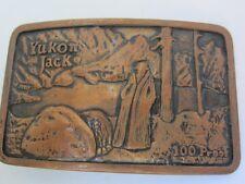 Belt Buckle Vintage Yukon Jack Copper 1979 100 Proof  Heublein Excellent