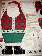 "Daisy Kingdom Christmas Alpine SANTA DOOR PANEL Fabric 43"" 1997 Plaid Adirondack"