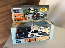 Vintage  #Battery Operated PORSCHE  Police Toy Car # NIB