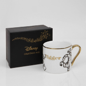 DISNEY COLLECTABLE WINNIE THE POOH TIGGER GOLD RIM MUG FROM WIDDOP & CO