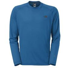 NORTH Face FLASHDRY Blue SHIRT Large MENS Crewneck TOP Baselayer CREW Size A8AB*
