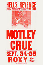 ROCK Motley Crue at the Roxy * Hell's Revenge * L.A. Poster 1982  Large 24x36