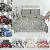 Reversible Printed Duvet Cover Pillow Cases Quilt Bedding Set Single Double king