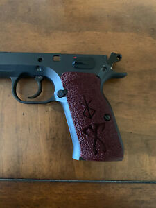 Tanfoglio/EAA Witness Large  Frame Palmswell grips - red viking axe inlay custom