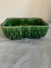Vintage UPCO Ungemach USA Green Scalloped Pottery Planter