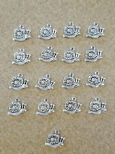 Lot of 17 Tibetan Silver Snail Charms for Earrings Crafts Kids Bracelet Gary