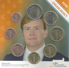 NEDERLAND 2016 - Oranjeset met 8 munten