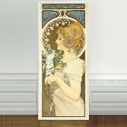 "Stunning Alphonse Mucha Feather ~ CANVAS PRINT 24""X10"" Art Nouveau"