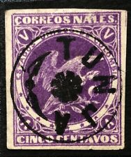 COLOMBIA 1876  5c  Imperf  Good Used  Cancelled ' TUNJA '  (P151)
