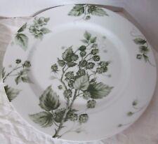 """WILLIAMS-SONOMA Ormonde GREEN Porcelain Dinner Plate Raspberries 10-3/4"""" Motif 1"""