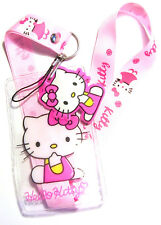 * Disney Lanyard ' Hello Kitty ' Lanyard With Charm * Pass Holder * UK