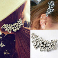 Women Rhinestone Flower Crystal Headband Hair Clip Pin Comb Bridal Wedding Gift