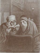 Lithographie, Lévy, Juifs algériens. XIXe. Orientalisme. Judaïca, Jew, Algérie.