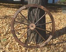 Wagon Wheel Decoration Garden Decor Rustic Country Style Landscape Art Cart 35""